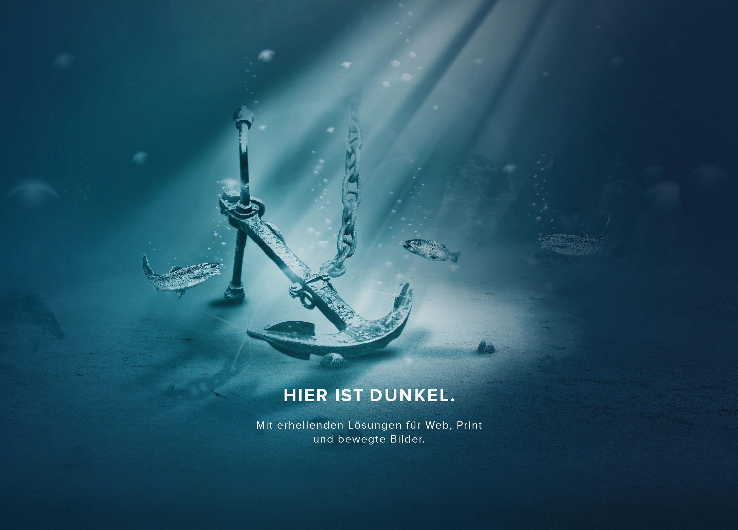 Dunkel Bildcomposings Anker MHG Bern
