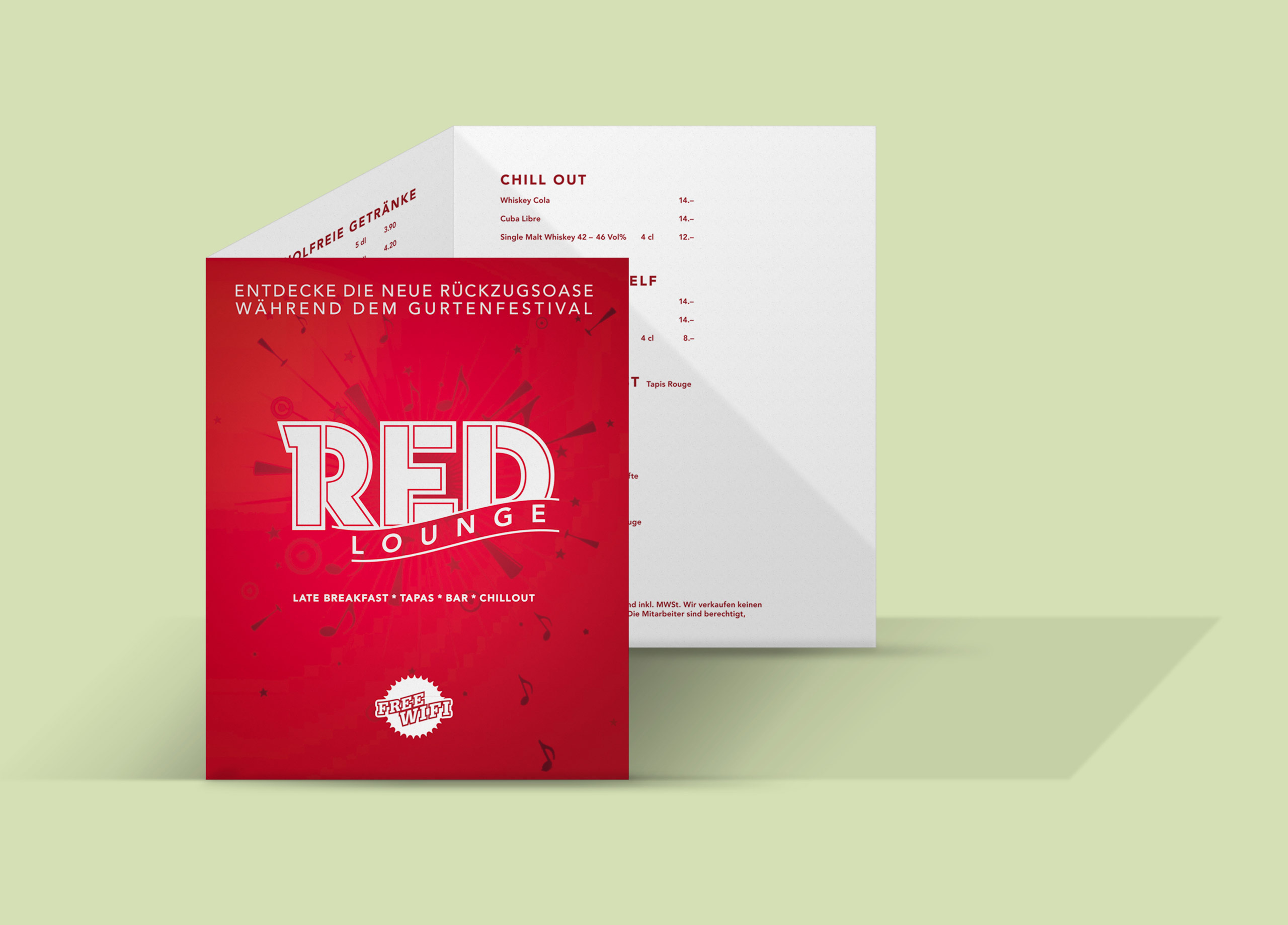 Redlounge Getraenkekarte MHG Bern
