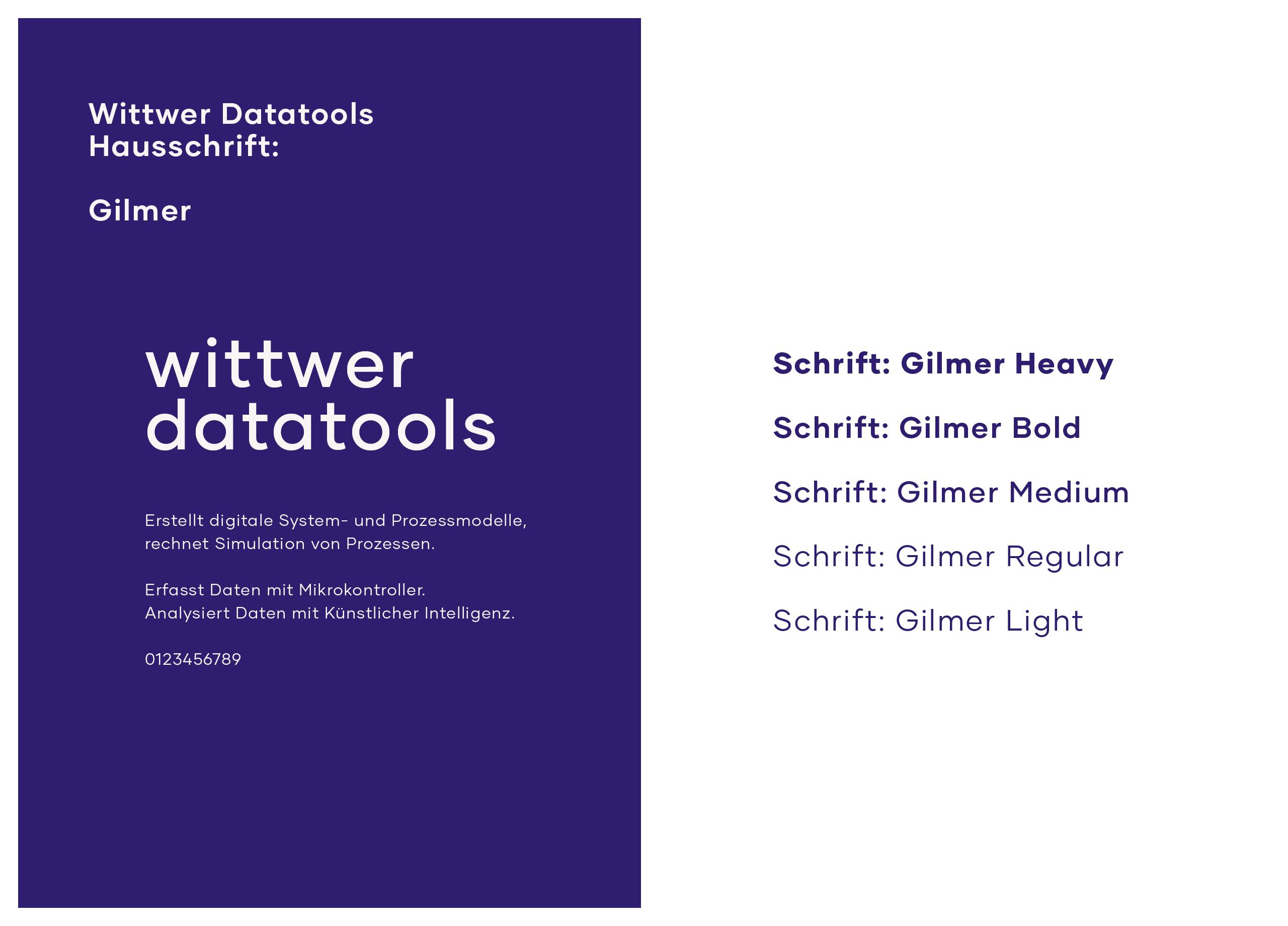 Wittwer Datatools Branding Schriften MHG Bern
