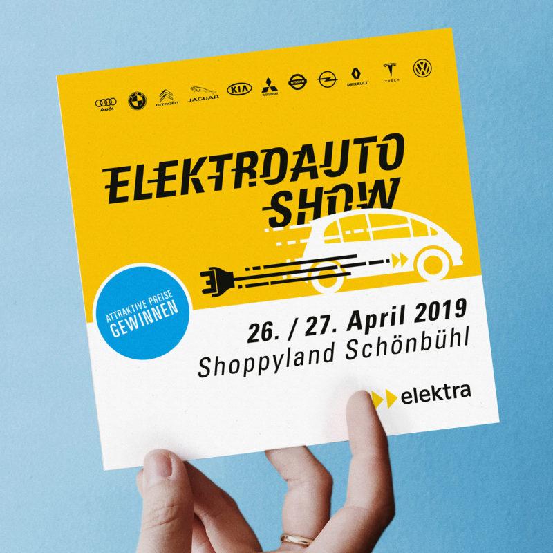 Elektra Elektroauto Show Flyer MHG Bern