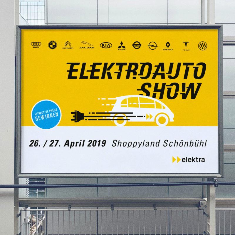 Elektra Elektroauto Show Plakat MHG Bern