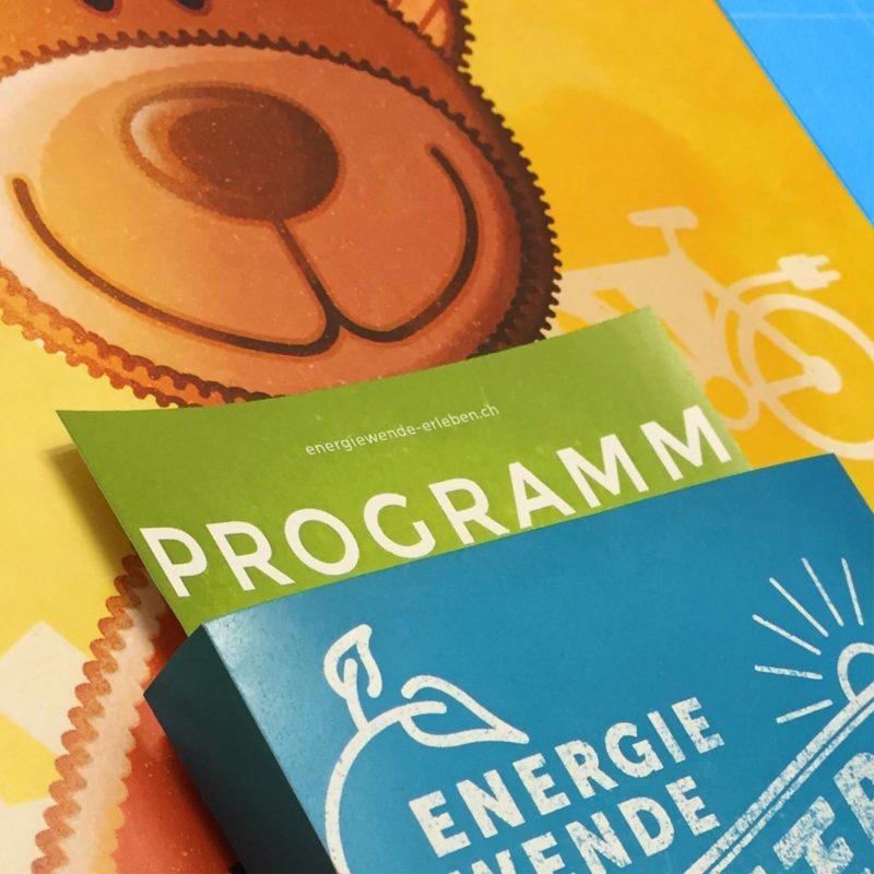 Energiewende Erleben Flyer Dispenser MHG Bern