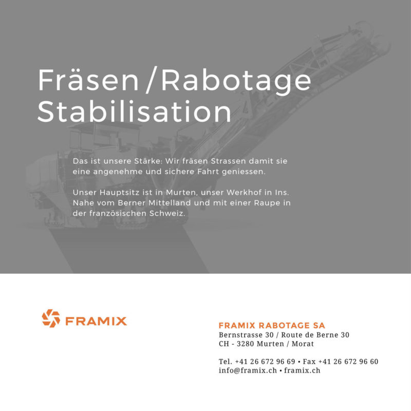 Framix Inserat MHG Bern