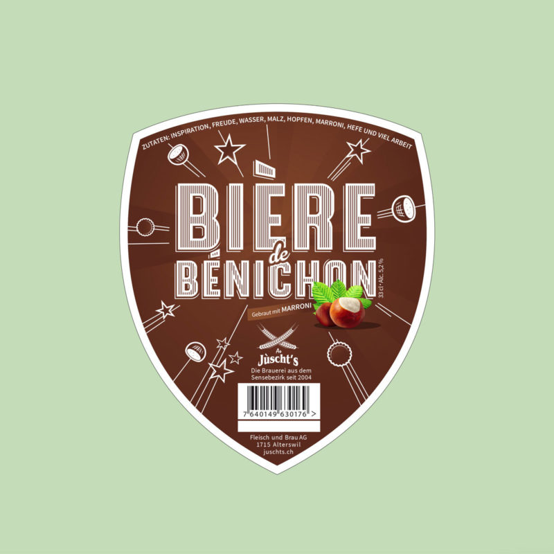 Juschts Bieredebenichon Bier Label MHG Bern