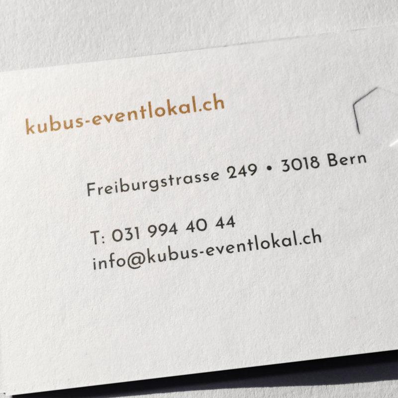 Kubus Eventlokal Branding Briefschaft Detail 02 MHG Bern