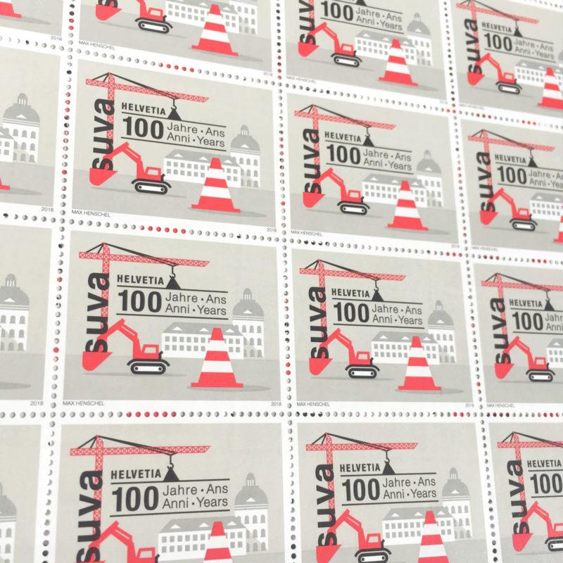 Post Suva 100 Jahre Markenbogen MHG Bern