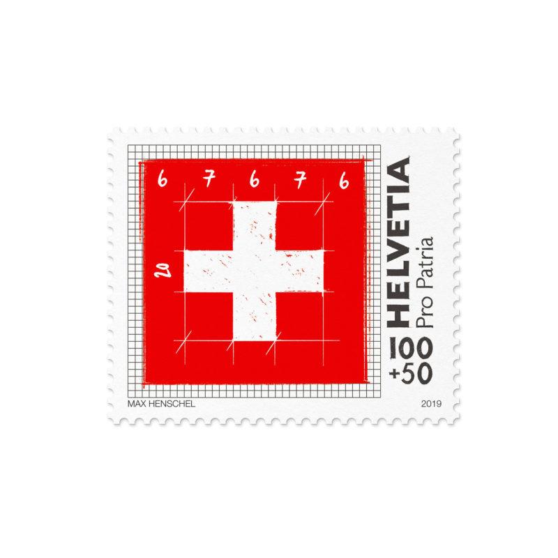Propatria Briefmarke Schweizer Flagge 02 MHG Bern