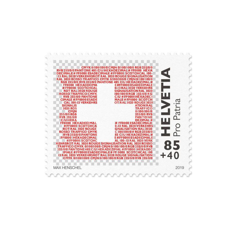 Propatria Briefmarke Schweizer Flagge 03 MHG Bern
