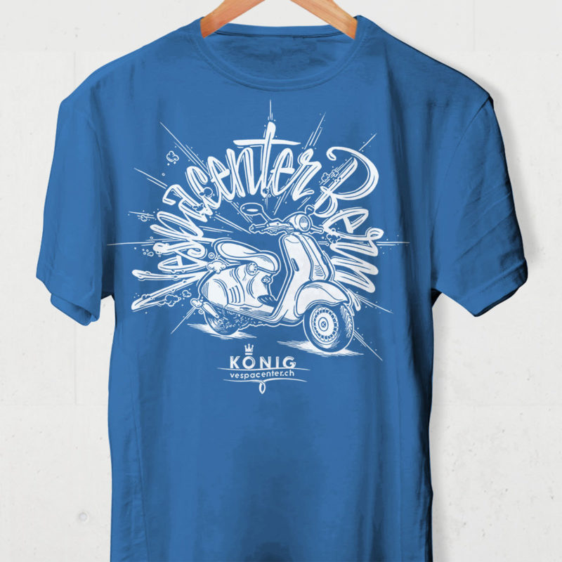 Vespacenter T Shirt Blau MHG Bern