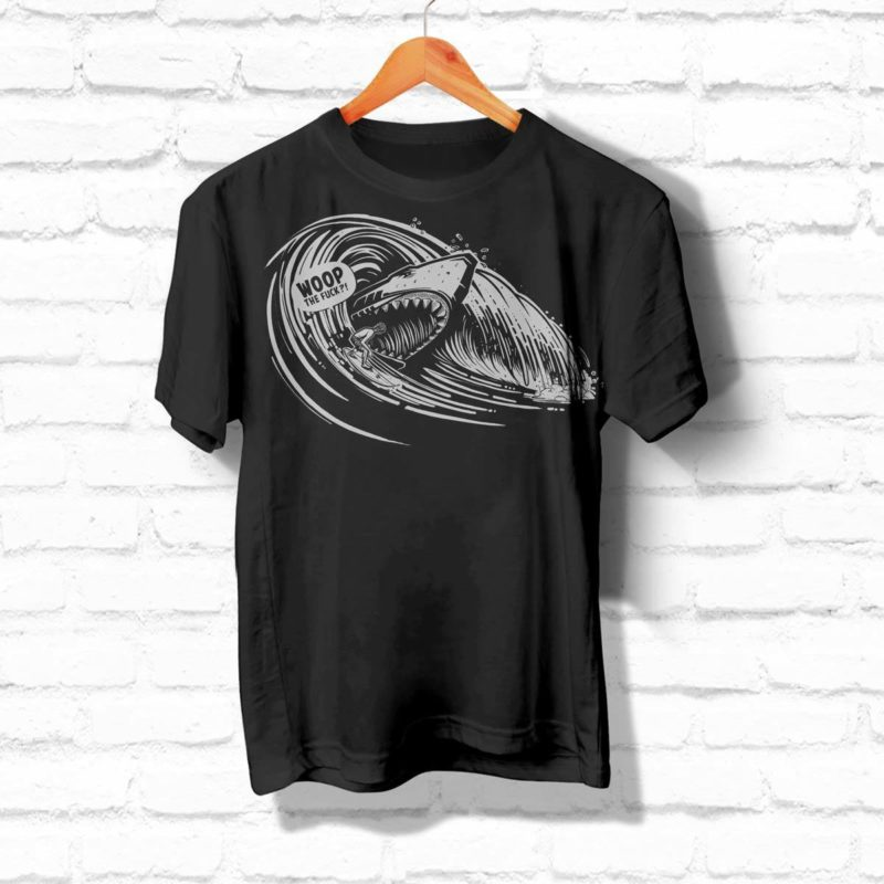 Woop Prod Illustration Surfer Shirt MHG Bern
