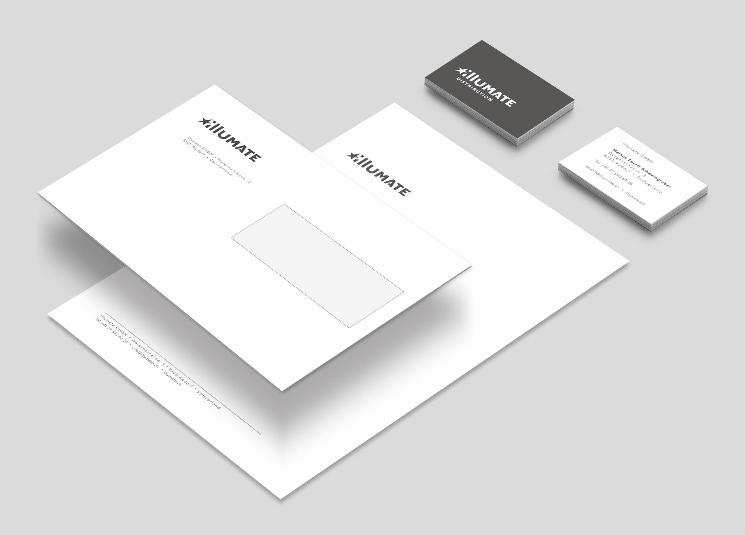 Illumate Corporate Design Briefschaft 01 MHG Bern